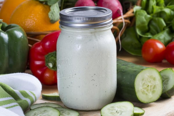 Farmer's Dressing #recipe #salad #saladdressing #dinner #lunch
