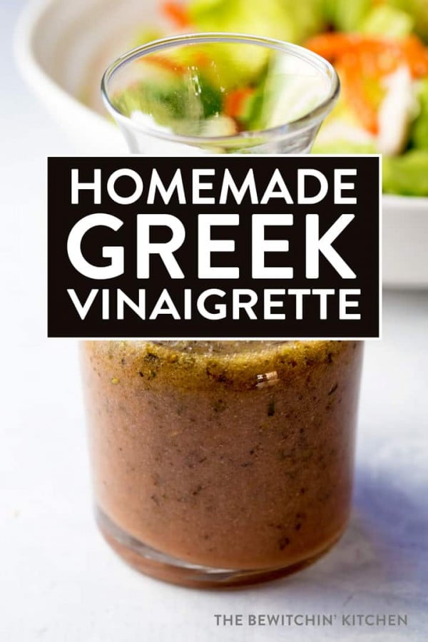 Homemade Greek Vinaigrette #recipe #salad #saladdressing #dinner #lunch
