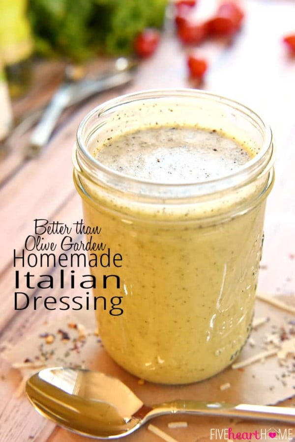 Homemade Italian Dressing #recipe #salad #saladdressing #dinner #lunch