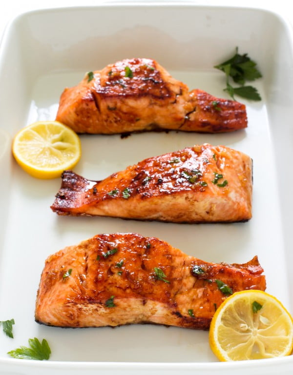 Honey Garlic Salmon #salmon #fish #food #dinner #recipe