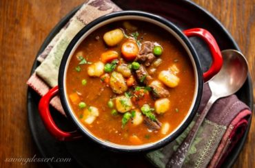 Hearty Beef and Gnocchi Soup #soup #dinner #recipe