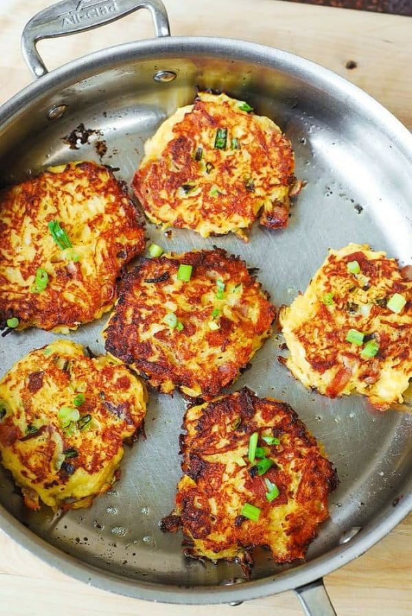 Bacon, Spaghetti Squash Fritters Recipe #spaghetti #dinner #recipe #squash