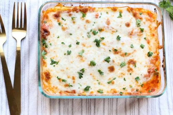 Spaghetti Squash Lasagna #spaghetti #dinner #recipe #squash