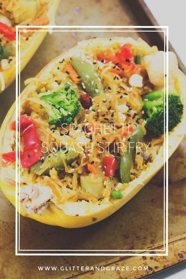 Spaghetti Squash Stir Fry #spaghetti #dinner #recipe #squash