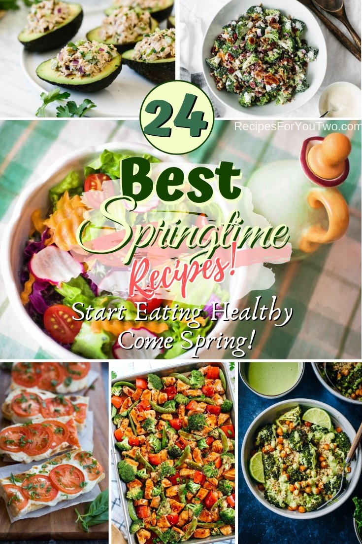 Start eating healthy come spring with these delicious healthy recipes. Great list! #recipe #food #spring #healthy #dinner #lunch