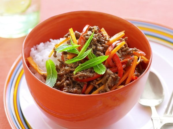 Sweet and sour beef mince with vegetables #recipe #food #dinner #sweetandsour