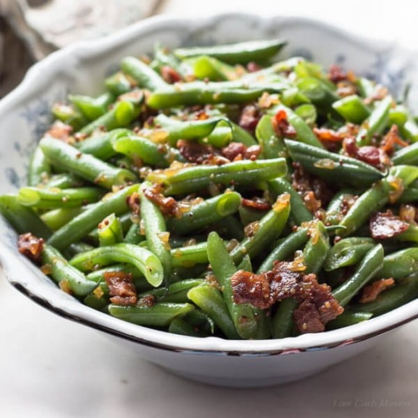 Sweet and Sour German Green Beans with Bacon and Onions #recipe #food #dinner #sweetandsour