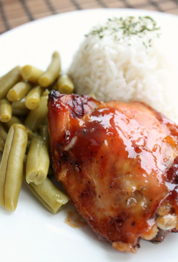 Baked Sweet and Sour Chicken Thighs #recipe #food #dinner #sweetandsour
