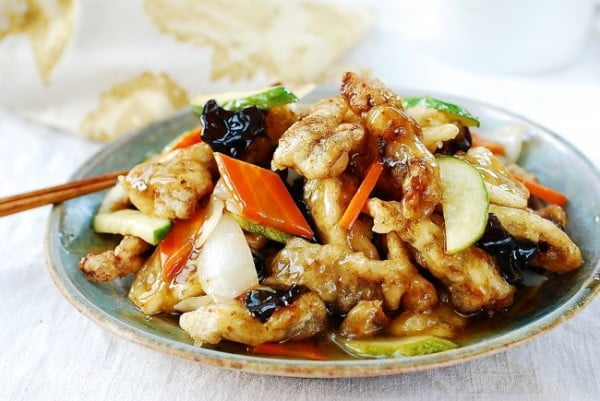Tangsuyuk (Sweet and Sour Beef or Pork) #recipe #food #dinner #sweetandsour