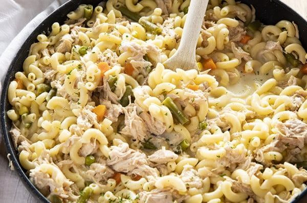 One Pan Turkey Casserole #turkey #dinner #recipe #food