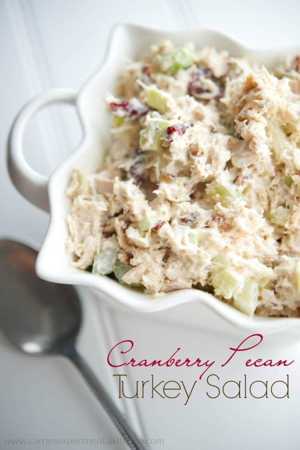 Cranberry Pecan Turkey Salad #turkey #dinner #recipe #food