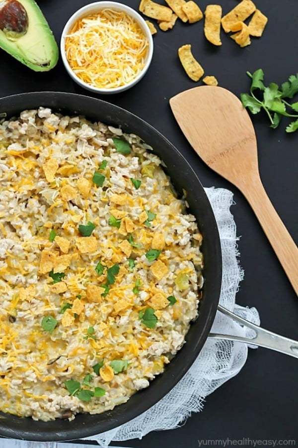 One-Pot Turkey Skillet Recipe #turkey #dinner #recipe #food