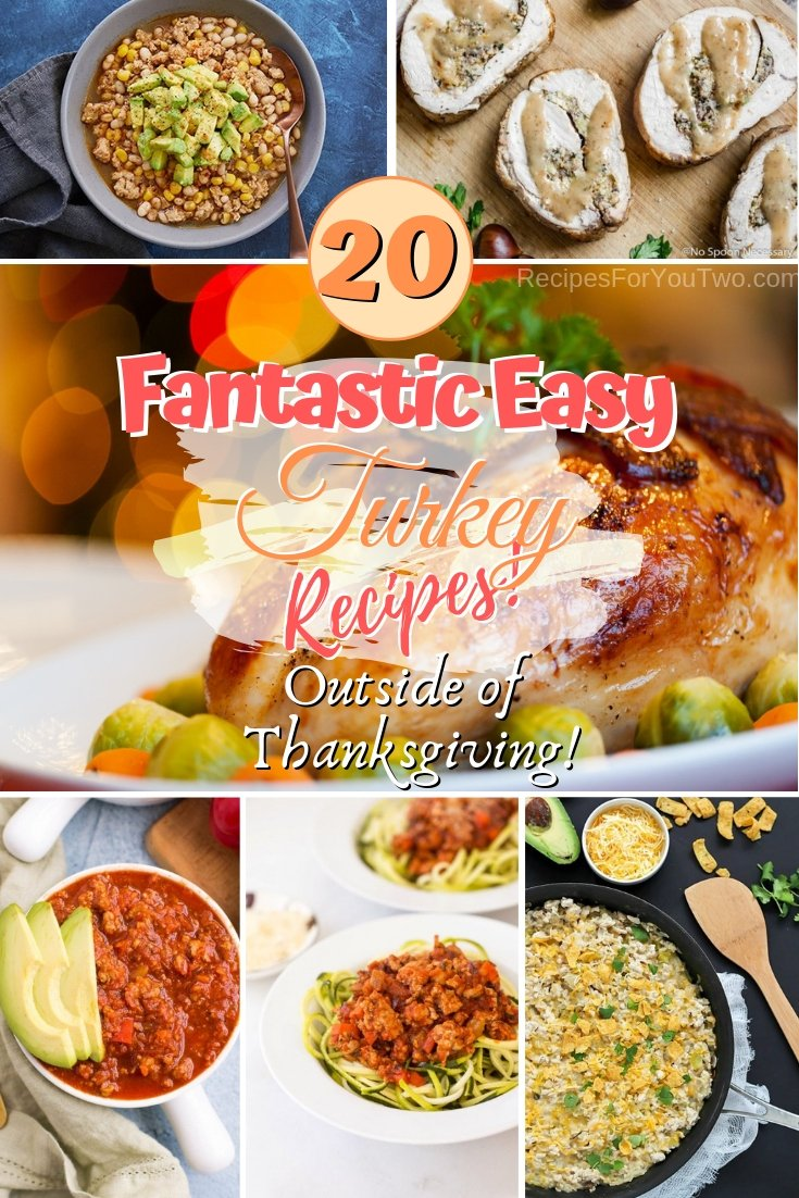 Enjoy turkey outside of Thanksgiving with these fantastic turkey dinner recipes. Great list! #turkey #dinner #recipe #food