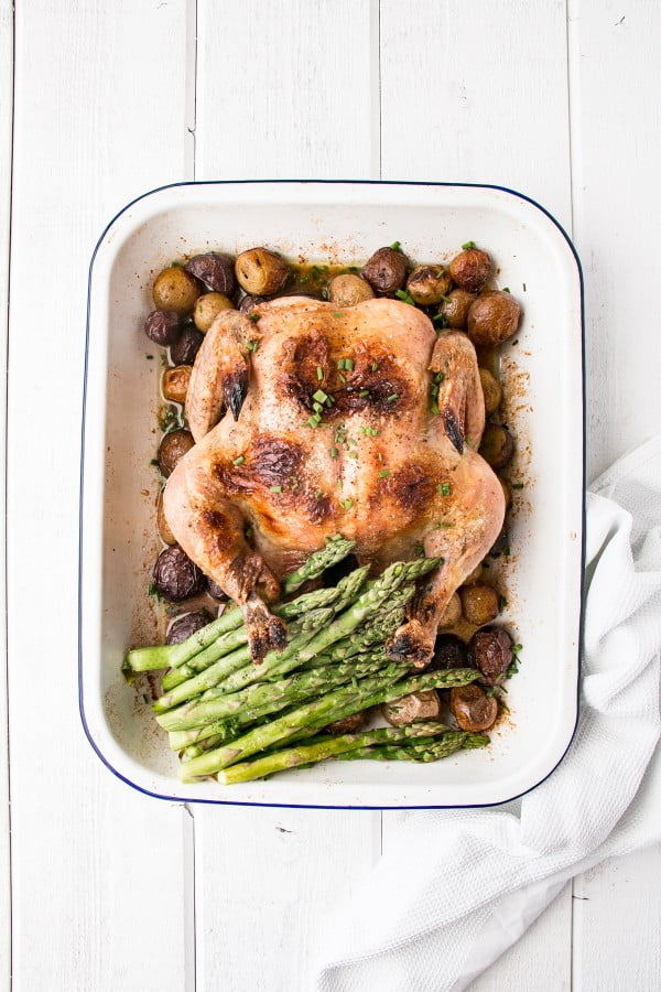 4-Ingredient Roast Chicken Dinner #recipe #chicken #roast #dinner