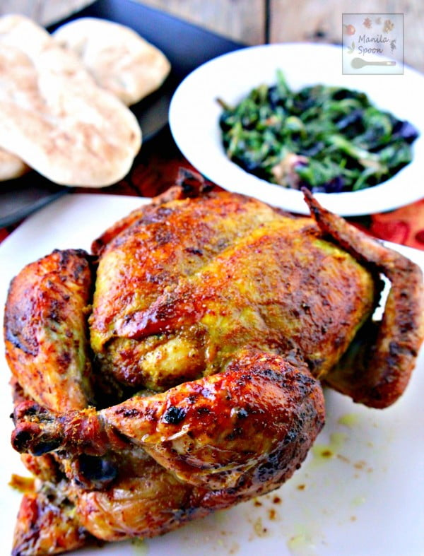 Whole Roast Masala Chicken (Indian-style) #recipe #chicken #roast #dinner