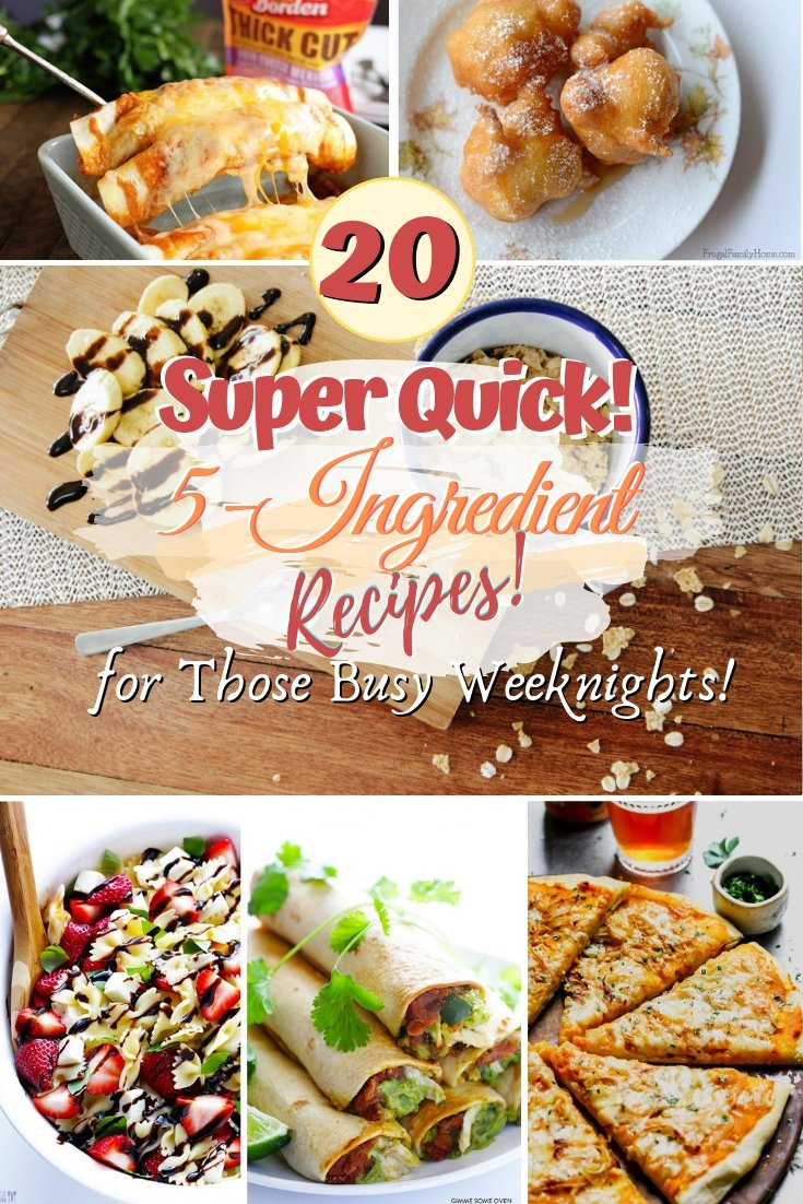 Not sure what to make on those busy weeknights? Use these quick and easy recipes for a delicious go-to meal. Great ideas! #recipe #food #5ingredients #dinner