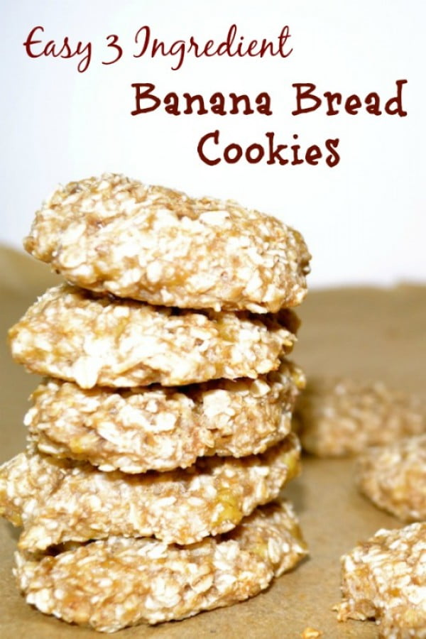 Easy 3 Ingredient Banana Bread Cookies – Creative Healthy Family #banana #recipe #snack #dessert