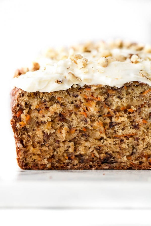 One Bowl Carrot Cake Banana Bread #banana #recipe #snack #dessert