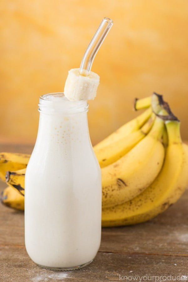 Banana Smoothie with Yogurt #banana #recipe #snack #dessert