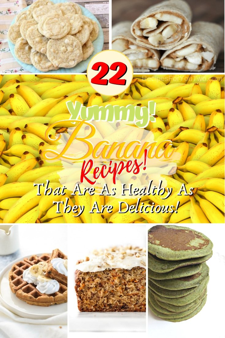 Want to add more fruit to your diet? Check out these great delicious banana recipes for snacks, desserts, and breakfast. Great recipes! #banana #snack #breakfast #dessert #recipe