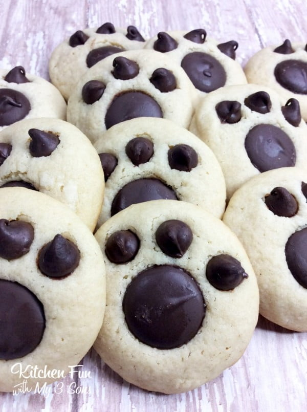 Bear Paw Cookies #cookies #snacks #dessert #food #recipe
