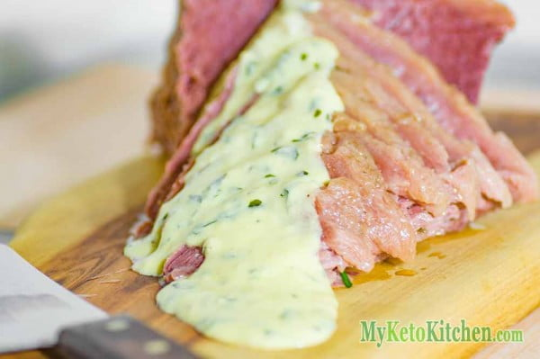 "Homemade Corned Beef & a ""Secret"" Low Carb Mustard Sauce Recipe #cornedbeef #beef #dinner #recipe"