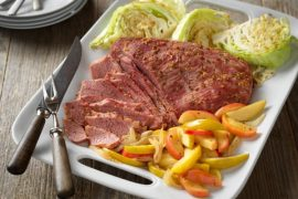 Corned Beef with Apple-Onion Saute #cornedbeef #beef #dinner #recipe