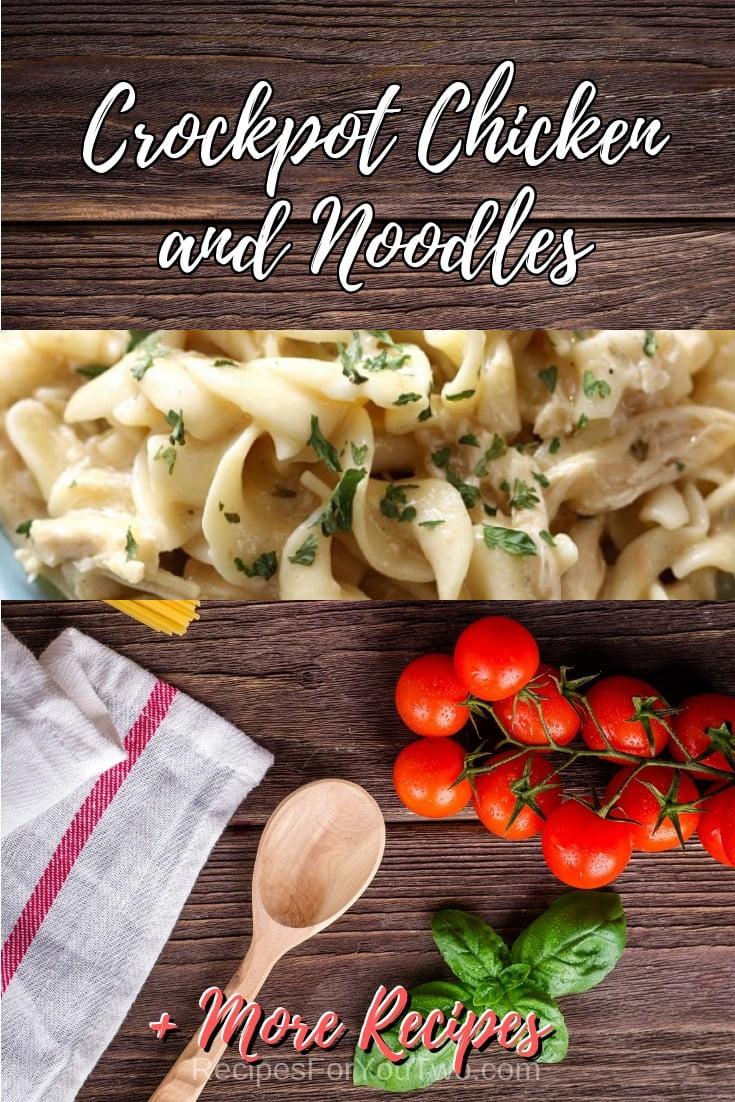 Crockpot Chicken and Noodles #crockpot #slowcooker #pasta #dinner #food #recipe