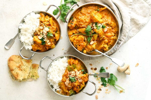 Cauliflower and Chickpea Curry #curry #dinner #recipe #food