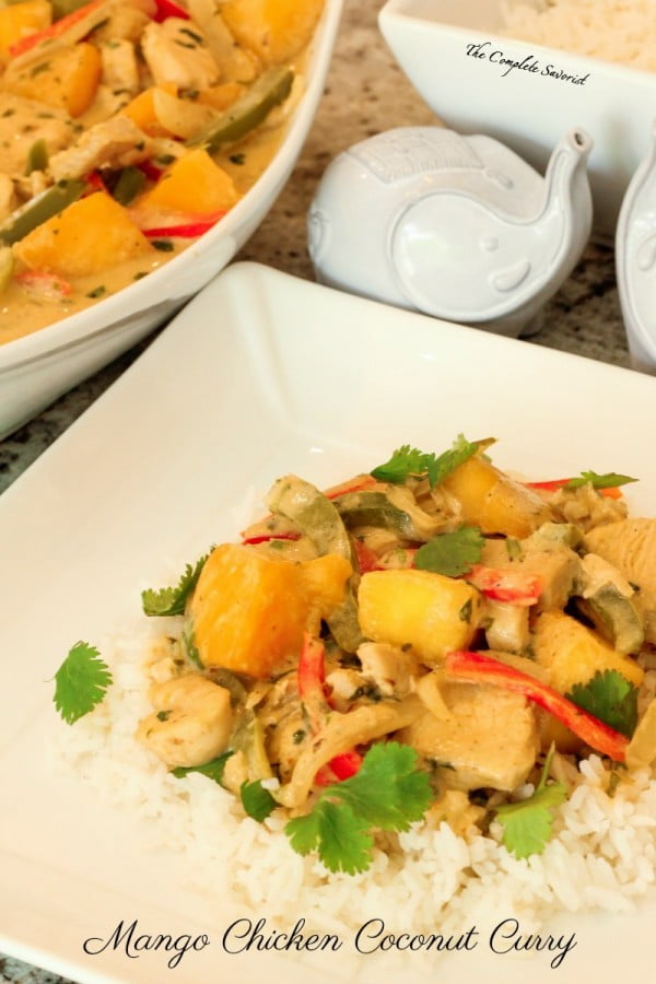 Mango Chicken Coconut Curry #curry #dinner #recipe #food