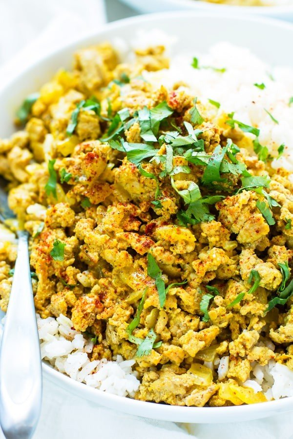 Easy Ground Turkey Curry #curry #dinner #recipe #food