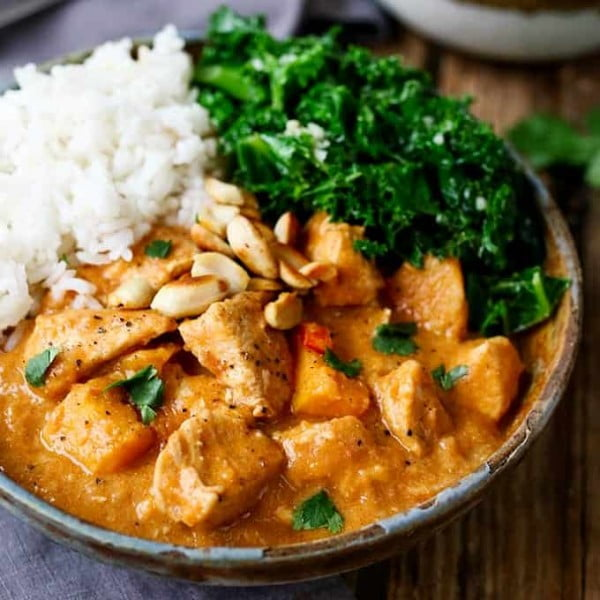 African Chicken and Peanut Stew #curry #dinner #recipe #food