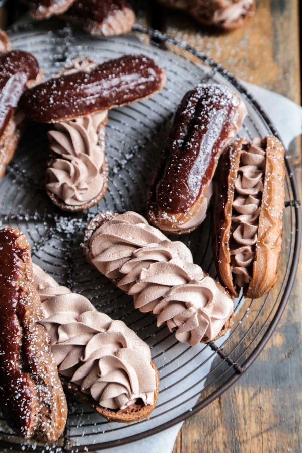 Triple Chocolate Eclairs #eclair #dessert #recipe
