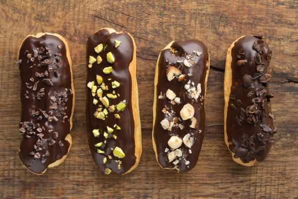 Gluten-Free Eclairs Recipe with Dairy-Free, Nut-Free Pastry Cream #eclair #dessert #recipe