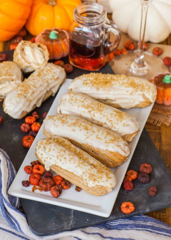Pumpkin Maple Eclairs #eclair #dessert #recipe