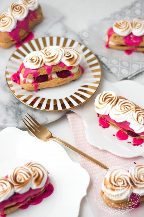 Recipe: Raspberry and Lemon Meringue Eclairs! #eclair #dessert #recipe