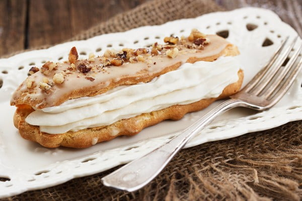 Maple Mascarpone Eclairs #eclair #dessert #recipe