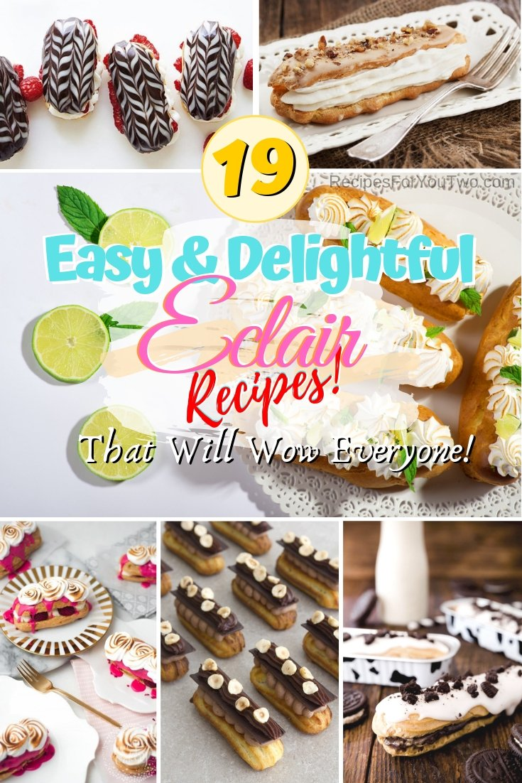 Master the classic French pastry eclair using these remarkable recipes. Great ideas! #dessert #pastry #eclairs #recipe