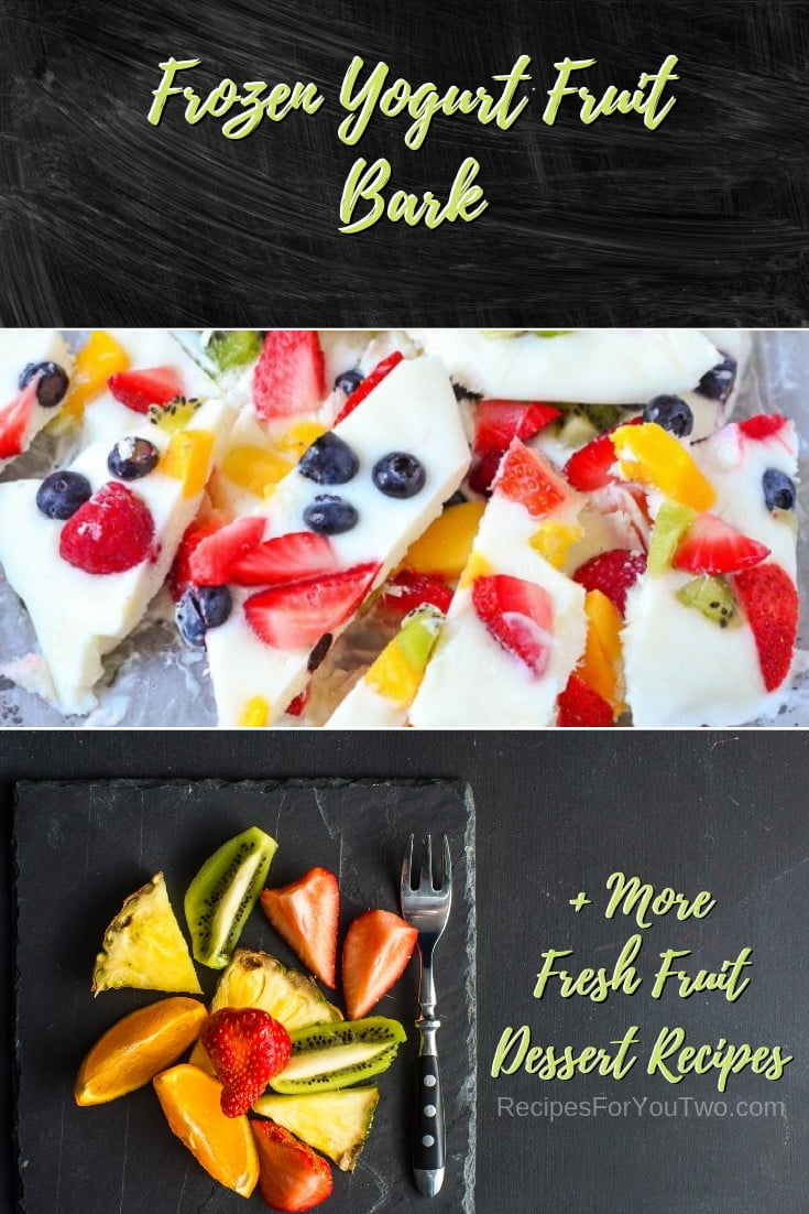 Frozen Yogurt Fruit Bark #freshfruit #fruit #dessert #recipe #food #picnic