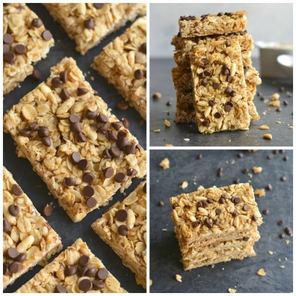 Honey Oats Chocolate Chip Granola Bars #granolabars #snacks #healthy #food #recipe