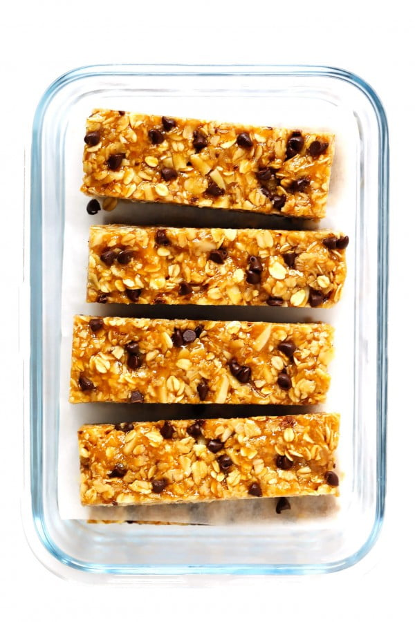 Chewy Peanut Butter Granola Bars #granolabars #snacks #healthy #food #recipe