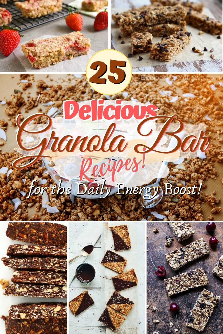 Get your daily energy boost with these amazing granola bar recipes! #food #recipe #granolabar #snack