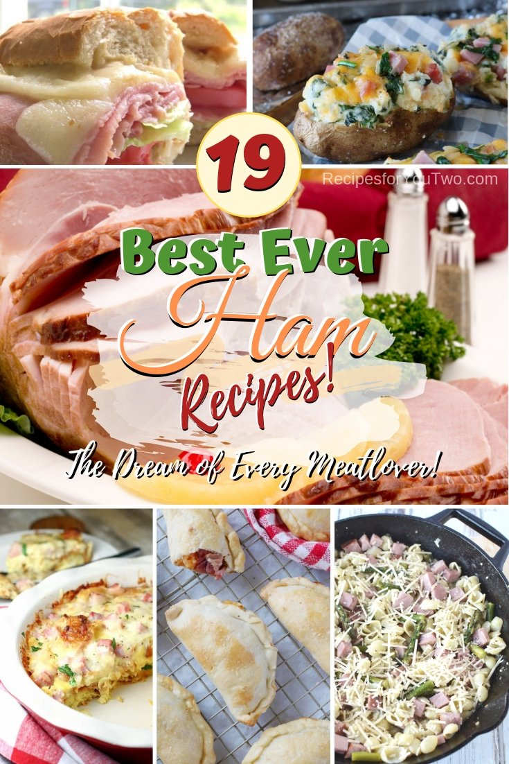 Rediscover your favorite ham to include it in flavorful recipes. Some great ideas here! #ham #dinner #lunch #snack #breakfast #recipe