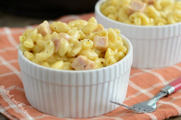 Instant Pot Mac and Cheese with Ham #ham #recipe #dinner