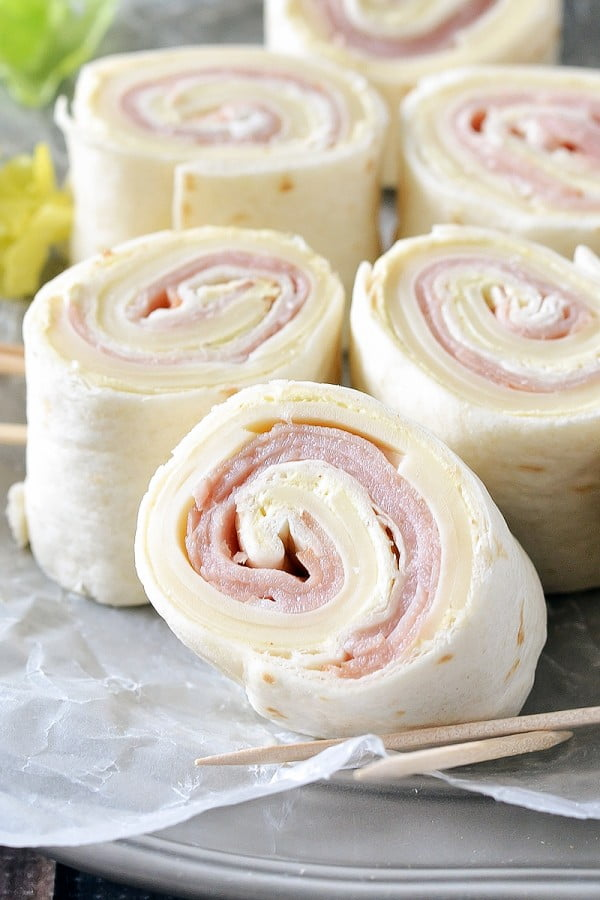 Ham and Cheese Pinwheels #ham #recipe #dinner