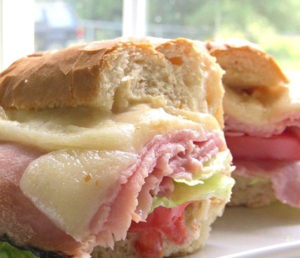 Baked Hot Ham Cheese Sandwiches #ham #recipe #dinner