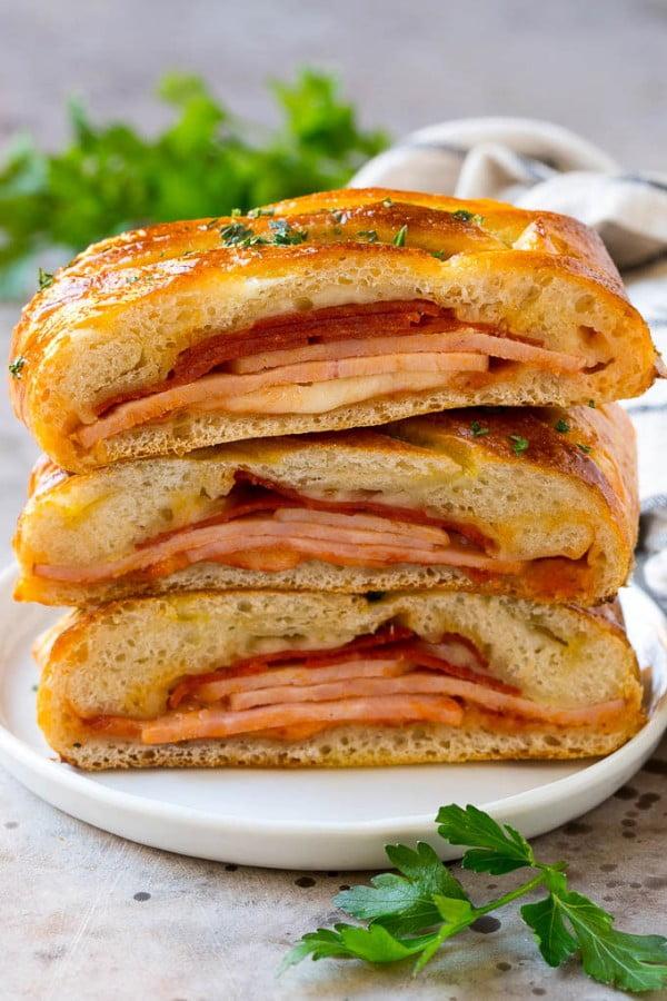Stromboli Recipe #ham #recipe #dinner