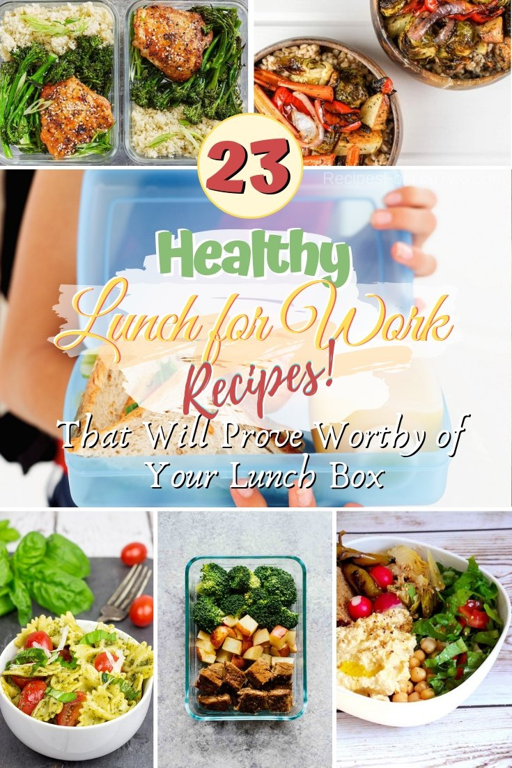 Don't know what to pack for work lunch? Here are 23 healthy and delicious recipes to help you choose. Great ideas! #healthy #lunch #food #snacks #recipe