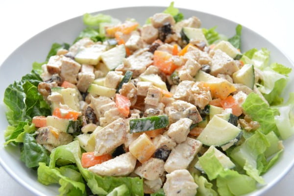 Chicken Zucchini Salad (Whole 30) #lunch #healthy #food #snack #recipe