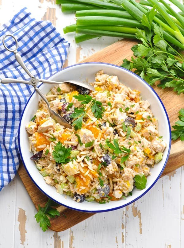 Southern Chicken and Rice Salad #lunch #healthy #food #snack #recipe